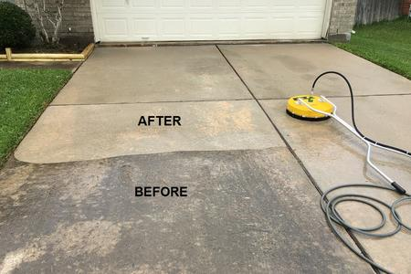 pressure washing driveways
