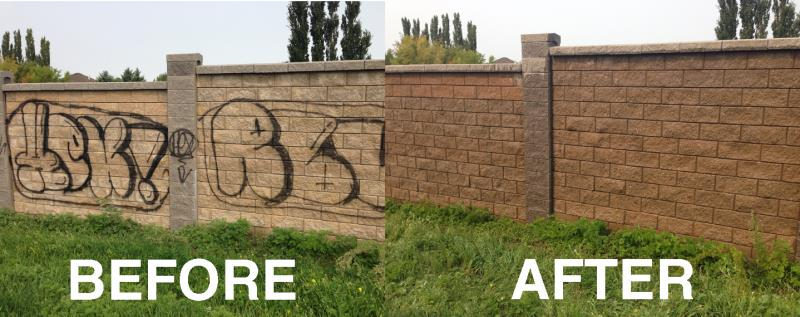 pressure washing graffiti removal